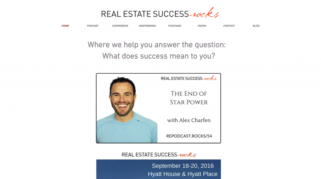 Real estate success rocks
